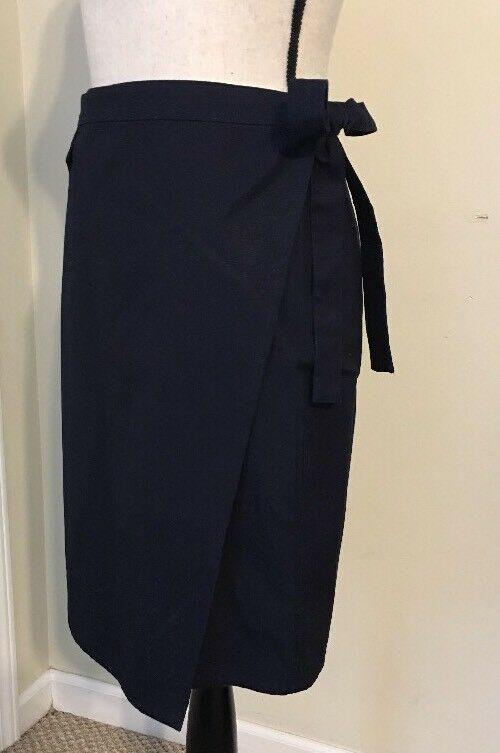 NEW Madewell Tie Wrap Skirt SizeM In Deep Indigo SAMPLE Summer 2018
