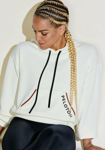 PELOTON x LANSTON TECHNO SUEDED NEON PIPED HOODIE