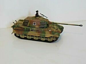 WARLORD BOLT ACTION 28mm GERMAN KING TIGER TANK DIPINTO #