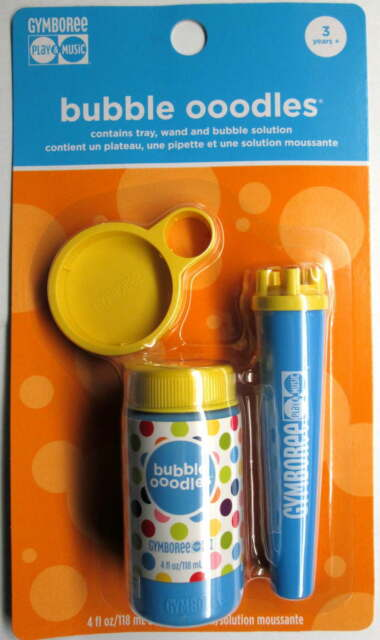 GYMBOREE BUBBLES OOODLES OODLES NIP 4 oz bubble solution w/ Wand NEVER OPENED