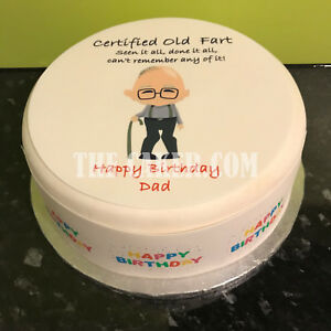Amazing Personalised Cake Topper Or Ribbon For Men With Funny Old Man 09 Funny Birthday Cards Online Overcheapnameinfo