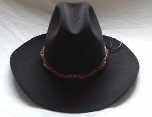 5be30af43d1 NWOT Resistol Western 4XXX Size 7 Beaver Cowboy Hat w  Leather Band ...