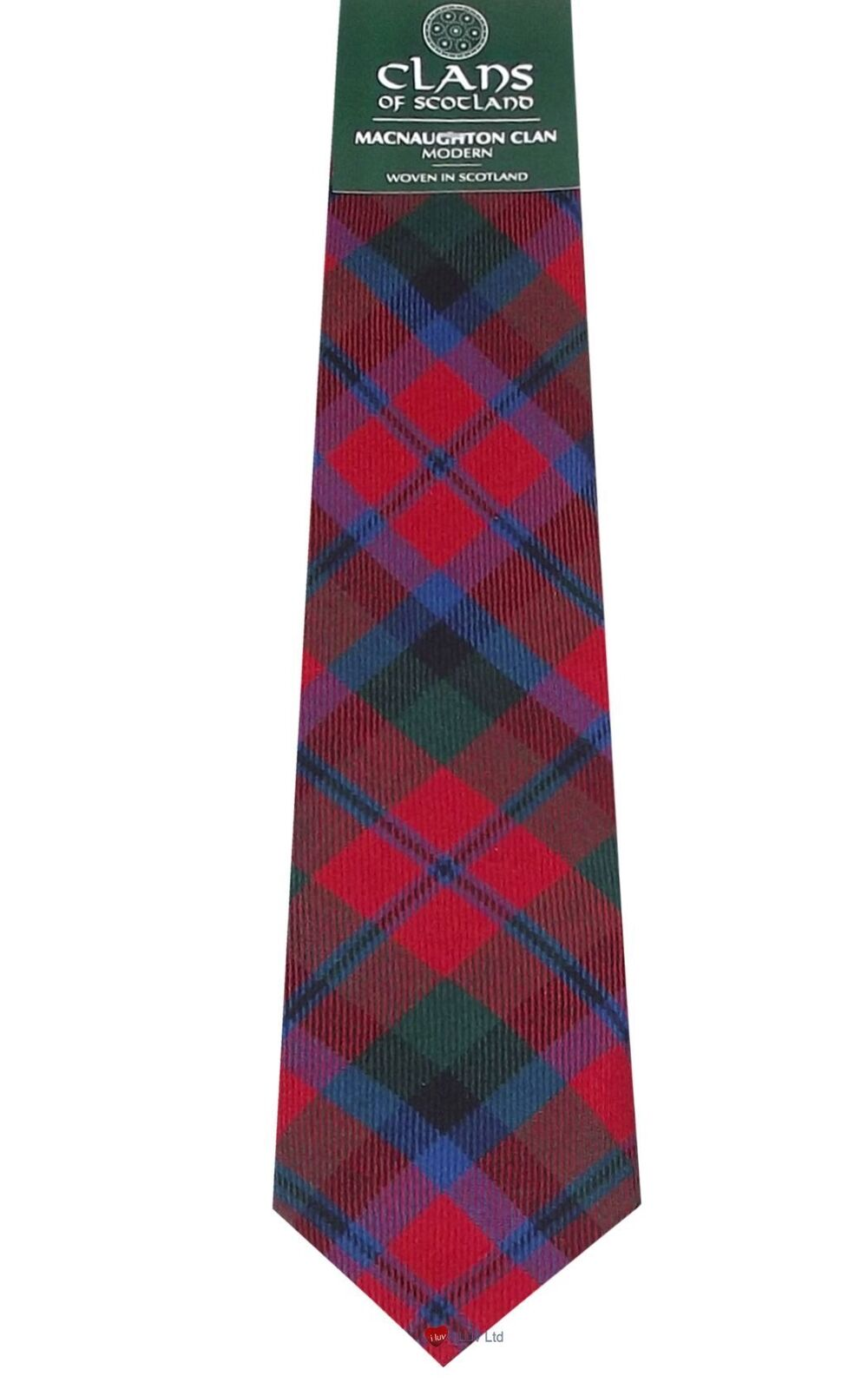 MacNaughton Clan 100% Wool Scottish Mens Mens Mens Tartan Tie | Guter Markt