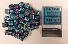 Chessex Dice d6 Sets Gemini Purple &Teal  Gold 12mm Six Sided Die 36 CHX 26849