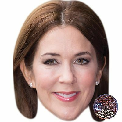 Card Face and Fancy Dress Mask Crown Princess Mary of Denmark Celebrity Mask