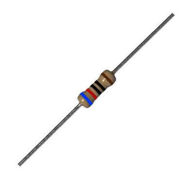 620ohm 1//4W 20 Resistenze da 620 ohm 1/% 1//4 W a strato metallico