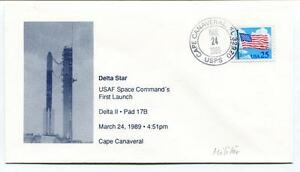 1989 Delta Star Usaf Space Command's First Launch Cape Canaveral Space Nasa Usa