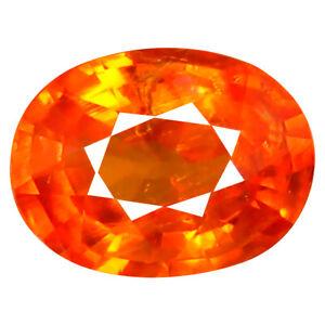 1.07 KT AAA+ Lampeggiante Ovale Forma (7 X 5 MM) Fanta Arancio Spessartina Gemma