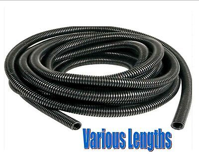 Black spiral conduit tube pipe split / non-split cable wire tidy 6.5mm - 23mm