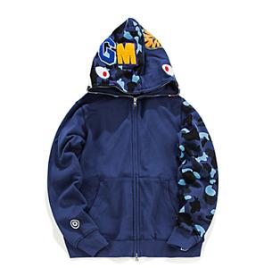 BAPE-A-BATHING-APE-Full-Zip-Hoodie-Sweater-Mens-Shark-Jaw-Red-Camo-Jacket-Coat