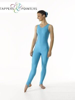 SLEEVELESS PLAIN FRONT NYLON LYCRA STIRRUP LEGGINGS CATSUIT FOR DANCE//MODERN