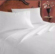1 new white full 81x104 percale flat hotel bed sheets premium hotel resort