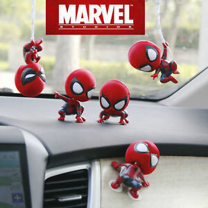 New-Cute-Spiderman-Bobble-Head-Figure-Car-Accessories-Spider-Man-Home-Coming