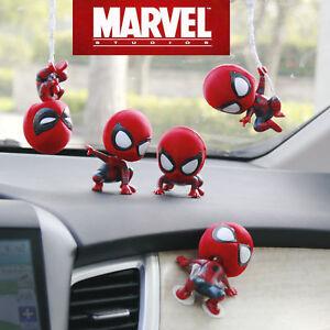 Cute-Spiderman-Bobble-Head-Figure-voiture-accessoires-Spider-Man-Home-coming