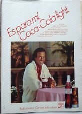 JULIO IGLESIAS => 1 page 1985  SPANISH CLIPPING !!! (Coca Cola Light advert)