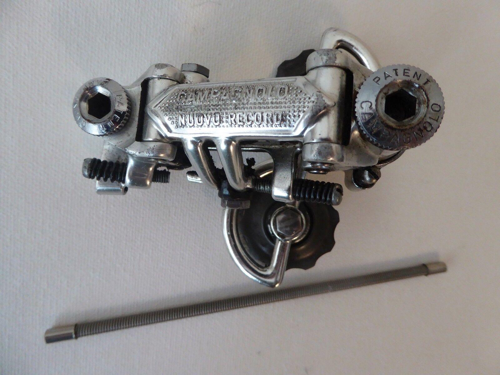 Vintage Campagnolo Nuovo Record Rear Derailleur patente cable exterior nos 81 Plus