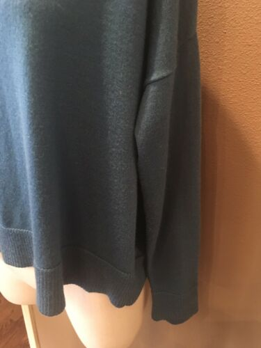 Xs Eileen chandail Fisher Pull turquoise 100 italienne en laine Nwot à P1w6aqxW