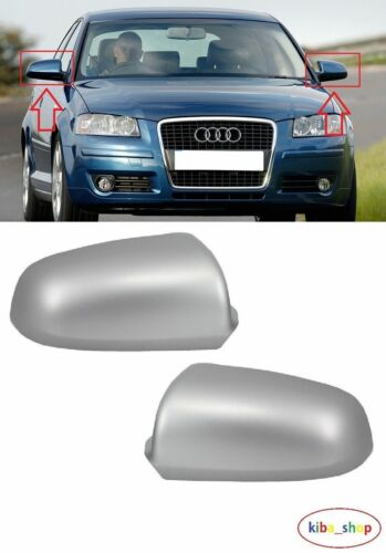 AUDI A3 2003-2008 2X NEW WING MIRROR COVER CAPS PRIMED LEFT RIGHT