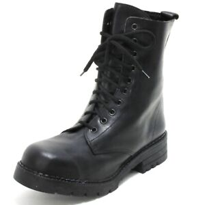 237 Bottes en Cuir Chaussures à Lacets Trapper Travailleur Pays Bottines Femmes