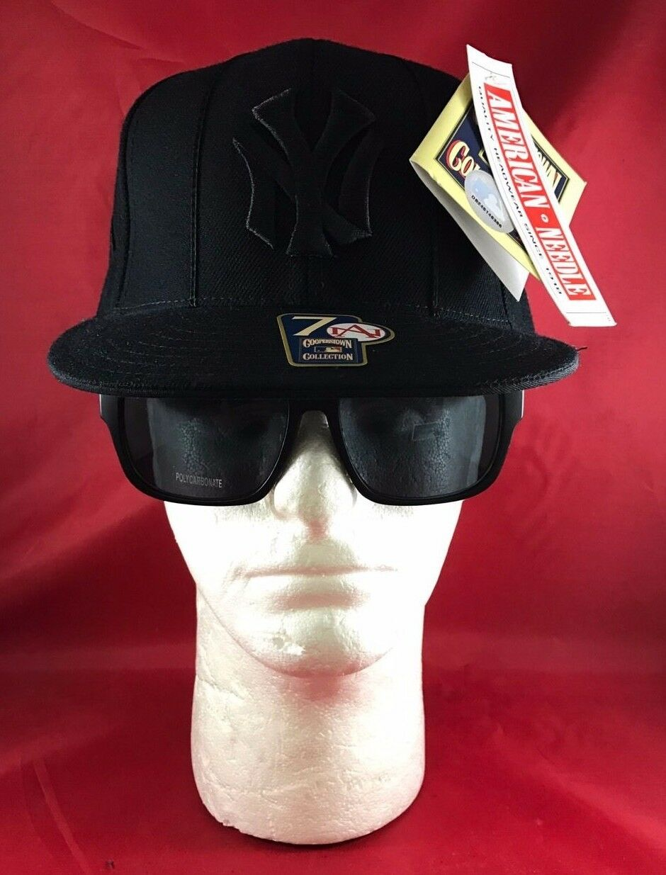American Needle Cooperstown Collection Black MLB New York Yankees Solid Black Collection Hat bc3fe5