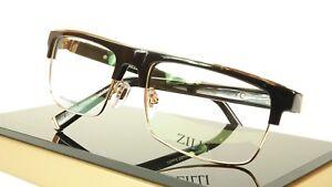 f793f614954 Image is loading ZILLI-Eyeglasses-Frame-Acetate-Titanium-Black-Gold-France-