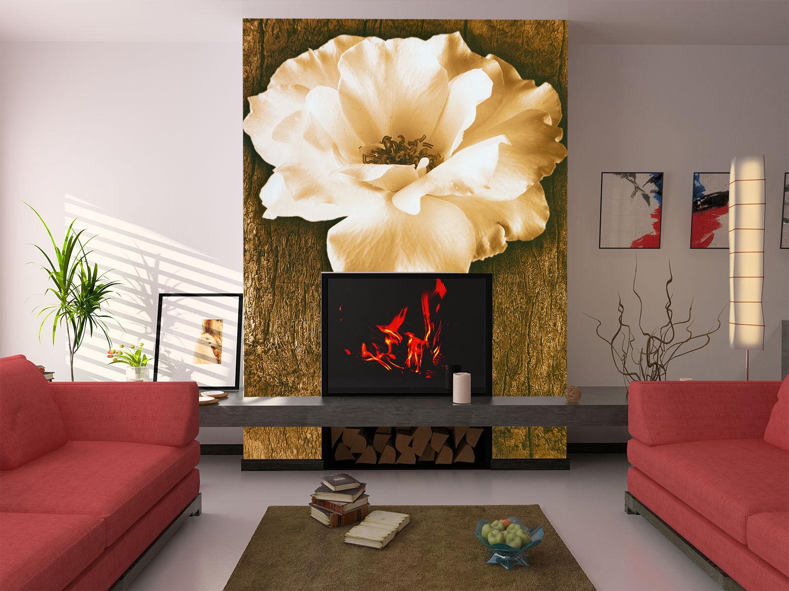 3D Weiße Blaumen 743 Tapete Wandgemälde Tapete Tapeten Bild Familie DE Lemon | Moderne und stilvolle Mode  | Mama kaufte ein bequemes, Baby ist glücklich  | Optimaler Preis