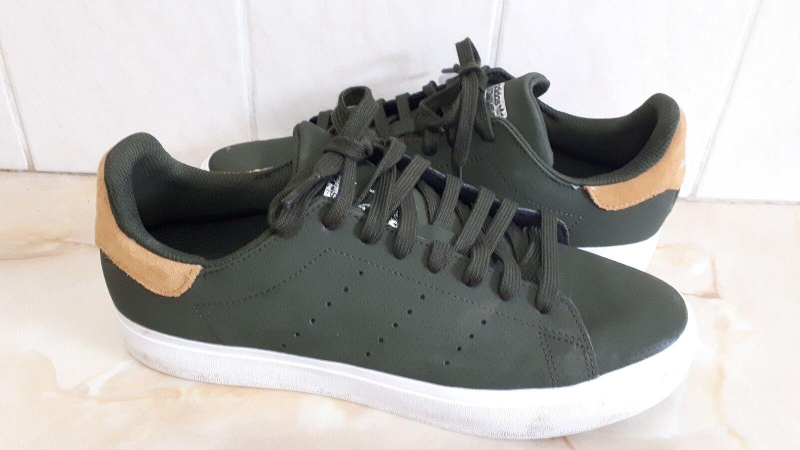 Rare Adidas Official Lifestyle Khaki Green Stan Smith Trainer Uk 7