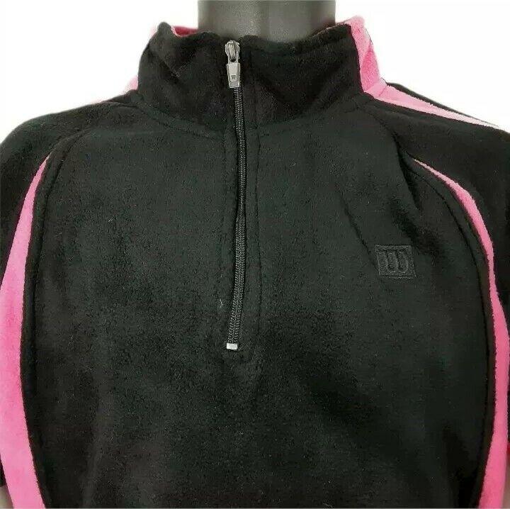 Wilson Brand 1/4 Zip Pullover Large Jacket Pink Black Hiking Walking Women
