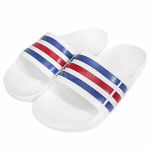 image is loading adidas duramo slide white blue red mens womens