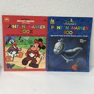Paint And Marker Books Coloring Kids Casper Mickey Mouse ...