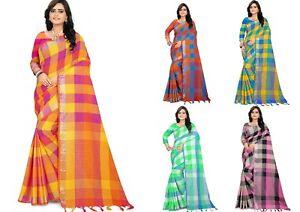 Clothing, Shoes & Accessories Other Women's Clothing Designer Saree Cotton Silk Pakistani Bollywood Indian Kanchipuram Sari Ethnic Sc