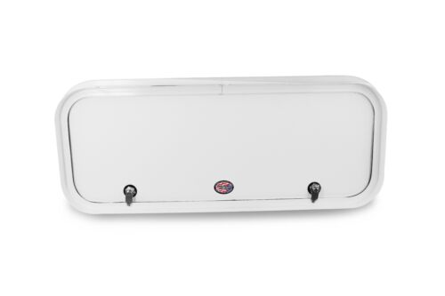 Trailer Camper BRAND NEW White Baggage Door 20/'/' x 12/'/' With Thumb Latch RV
