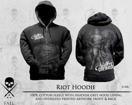 RIOT ZIP Hoodie for Men by Sullen - Small up to 3XL