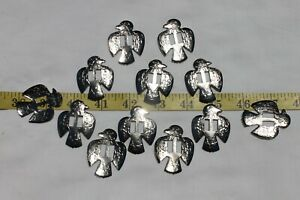 Slotted-Western-Thunderbird-Silver-Crafts-Leathercrafts-Conchos-1-1-2-inch-12pc