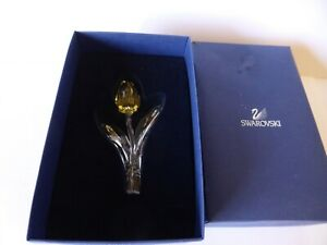 SWAROVSKI-SILVER-CRYSTAL-2003-LARGE-YELLOW-TULIP-MINT