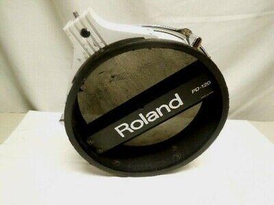 roland pd 120 dual trigger mesh head v drum pad white ebay. Black Bedroom Furniture Sets. Home Design Ideas