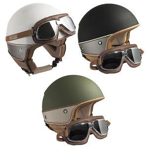 Casco-Demi-Jet-Open-Face-CGM-104G-Nairobi-705V-Occhiali-Moto-Scooter-Omologato