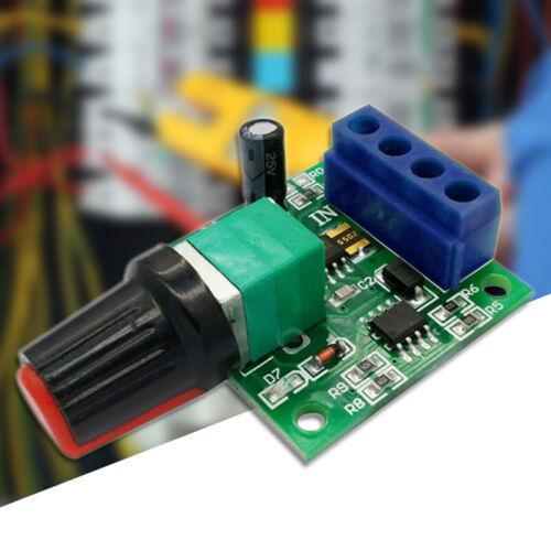2A Spannung DC 1,8V 3V 5V 6V 12V PWM Drehzahlregler Potentiometer Knob Schalter