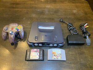 Nintendo 64 N64 System / Console Bundle + Cables + 1 Controller + 2 Games 🔥