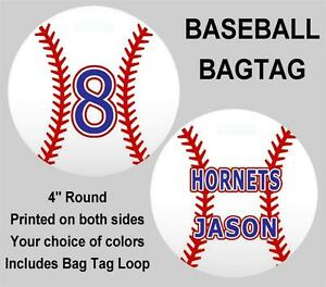 Image Is Loading Baseball Bag Tag Personalized Sports Duffle Bags Backpacks