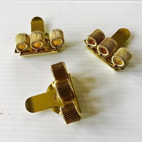 Pack of 3 Pen Holder Police  Gold Edition Pocket Clip Three Hole Nurse