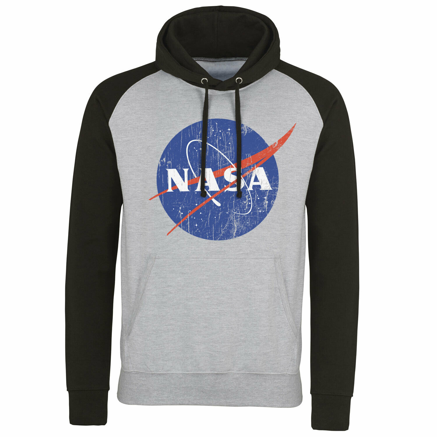 Officially Licensed NASA Washed Insignia Baseball Hoodie S-XXL Size