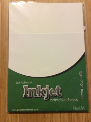 Premium Vinyl Sheets  A4 Pack of 5 White Inkjet Printable Sheets x 10 A4