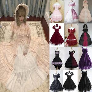 Frauen Gothic Kleid Vintage Ärmellos Kleider Halloween Mittelalterliche Kleidung