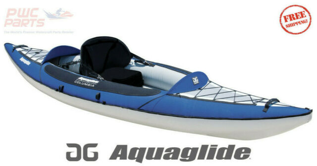 Aquaglide Columbia Xp1 Xp 110 1 Person Inflatable Touring Kayak Blue 58 4118114