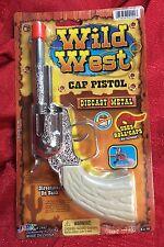 Wild West Die-Cast Metal Pistol Western Cowboy Toy CAP GUN -uses roll caps NEW