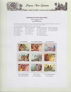 1973-1974-PNG-PAPUA-NEW-GUINEA-Panorama-STAMP-SET-K-431
