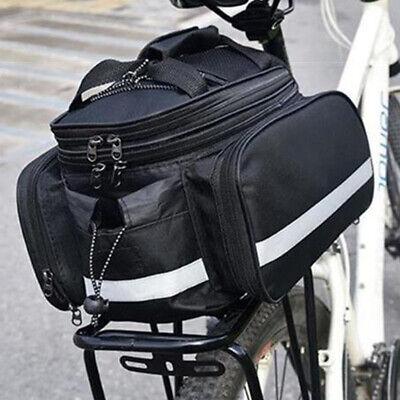 Schwarze Doppel Fahrrad-Tasche Gepäcktasche Fahrradtasche Seitentasche Polkadot