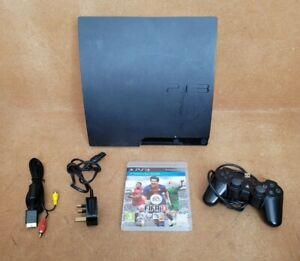 Sony PlayStation 3 PS3 Slim 160GB (CECH - 3003A) - 1 GB-configuración completa-Funcionando