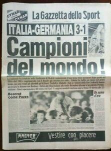 BELLISSIMA-ORIGINALE-GAZZETTA-DELLO-SPORT-12-LUGLIO-1982-CAMPIONI-DEL-MONDO